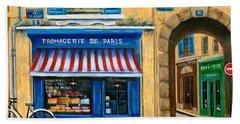 French Cheese Shop Beach Towel