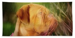French Mastiff  Beach Sheet by Eleanor Abramson