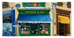 French Pastry Shop Beach Towel