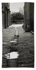 Beach Towel featuring the photograph French Quarter Alley by KG Thienemann