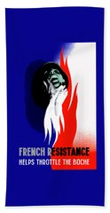 French Resistance Helps Throttle The Boche Beach Towel