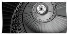 French Spiral Staircase 1 Beach Towel by Lexa Harpell