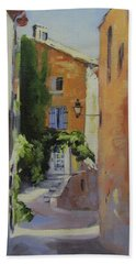 French Street Beach Towel by Chris Hobel