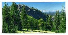Beach Towel featuring the photograph Fresh Air In The Mountains Photo Art by Sharon Talson
