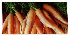 Fresh Carrots From The Summer Garden Beach Towel by GoodMood Art