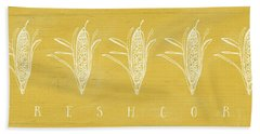 Fresh Corn- Art By Linda Woods Beach Towel