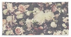 Fresh Flower Pattern Background Beach Sheet
