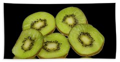 Fresh Kiwi Fruits Beach Towel