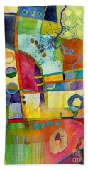 Fresh Paint Beach Towel by Hailey E Herrera