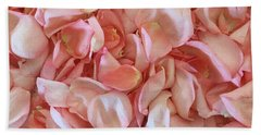 Fresh Rose Petals Beach Sheet