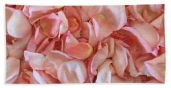 Fresh Rose Petals Beach Sheet