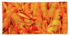 Fresh Shell Fish For Sale Beach Towel by Allan Levin