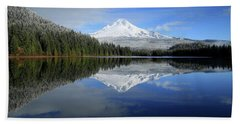 Fresh Snow On Mount Hood Beach Towel