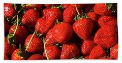 Fresh Strawberries Beach Sheet