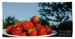 Beach Sheet featuring the photograph Fresh Strawberriesl by Kennerth and Birgitta Kullman
