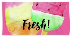 Fresh Summer Refreshing Fruit Popsicles Beach Towel