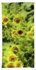 Fresh Sunflowers Beach Sheet