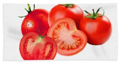 Fresh Tomatoes Beach Towel by Gabriella Weninger - David