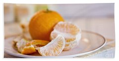Beach Towel featuring the photograph Freshly Peeled Citrus by Cindy Garber Iverson