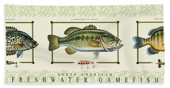 Freshwater Gamefish Beach Towel