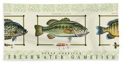Freshwater Gamefish Beach Towel
