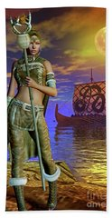 Beach Towel featuring the digital art Freya 2 by Shadowlea Is