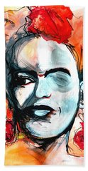Frida Beach Towel by Helen Syron