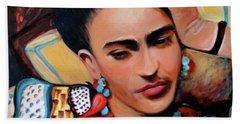 Frida Beach Towel by Jan VonBokel