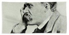 Friedrich Nietzsche, 1912 Beach Towel