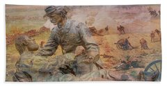Friend To Friend Monument Gettysburg Battlefield Beach Sheet