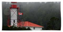Friendly Cove Lighthouse And Flag Beach Sheet