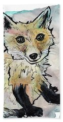 Friendly Fox Beach Towel