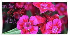 Friends Are The Flowers Beach Towel by Trina Ansel