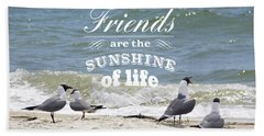 Friends In Life Beach Sheet