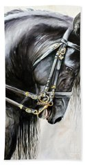 Friesian Beach Towel by Debbie Hart