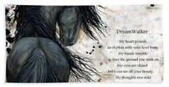 Friesian Dreamwalker Horse Beach Towel