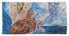 Friggin In The Riggin - Kon Tiki Expedition Beach Sheet