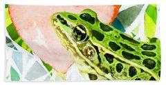 Frog In Love Beach Towel