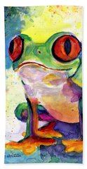 Froggy Mcfrogerson Beach Sheet by Arleana Holtzmann