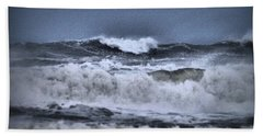 Beach Towel featuring the photograph Frolicsome Waves by Jeff Swan