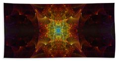 Beach Towel featuring the digital art From Chaos Arisen by Lea Wiggins