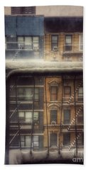 From My Window - A Snowy Day In New York Beach Towel by Miriam Danar