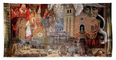 From Rome To America Beach Towel