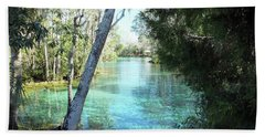 From Spring 3 To Spring 2 At Three Sisters Springs Beach Towel