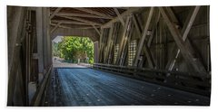 From The Inside Looking Out - Shimanek Bridge Beach Towel