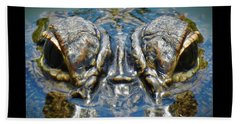 From The Series I Am Gator Number 7 Beach Towel