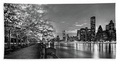 Front Row Roosevelt Island Beach Towel by Az Jackson