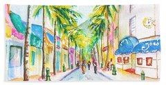Front Street Philipsburg St. Maarten  Beach Towel