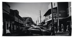 Beach Towel featuring the photograph Front Street  by Sharon Mau
