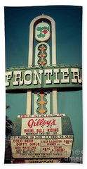 Frontier Hotel Sign, Las Vegas Beach Towel